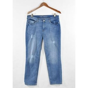 OLD NAVY Distressed Straight Crop Jeans SIZE 10